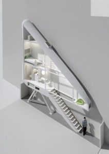 "Ultra-thin ""Keret"" house concept"