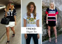 Trend: Slogan Tee with #FashionZen, #TrinesWardrobe and #MaidenSydney. How to: Five summer wardrobe essentials | ModelCo