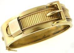 Victorian buckle motif hinged bangle.