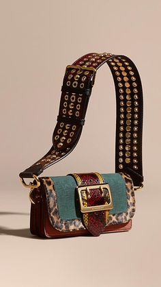 A one-of-a-kind Burberry runway bag with a unique mix of pattern and texture and individually named after a British town, street or village. The Patchwork can be worn as a shoulder or crossbody bag, or held as a clutch.