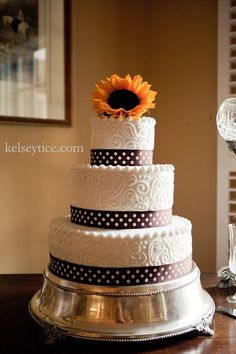 my beautiful sunflower cake made by my good friend for my wedding. :)