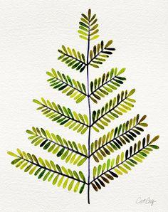 Green Leaflets Art Print