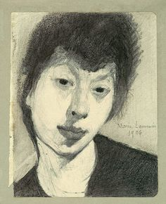 Self-Portrait Marie Laurencin (French, Pencil on paper, 13 x 12 x cm). © 2013 Artists Rights Society (ARS), New York / ADAGP, Paris Life Drawing, Painting & Drawing, Encaustic Painting, Art Moderne, French Art, Gravure, Art Sketchbook, Portrait Art, Art History