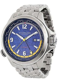 Stuhrling Original Men's 285.331136 Now Voyager Automatic World Time Blue Dia... -- This is an Amazon Associate's Pin. Clicking on the VISIT button will lead you to find the item on Amazon website