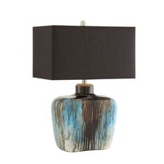 Table Lamp, Silver/Blue *D