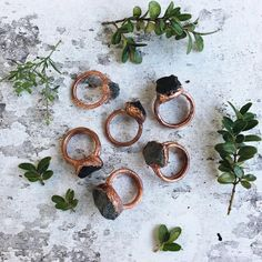 Electroformed Rings by WholeStudio on Etsy.