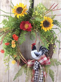 A personal favorite from my Etsy shop https://www.etsy.com/listing/591578414/spring-wreath-summer-wreath-front-door