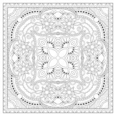 37860235-unique-coloring-book-square-page-for-adults-floral-authentic-carpet-design-joy-to-older-children-and-Stock-Vector.jpg (1300×1300)