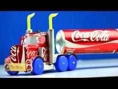 Trencito de juguete hecho con botellas de lejía o cloro.Trenzinho com material reciclado - YouTube