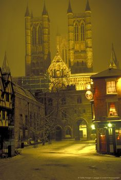 Image detail for -winter scene, Lincoln, Lincolnshire, England. Lincoln England, Lincoln Uk, Places To Travel, Places To See, Brighton, Lincoln Cathedral, Winter Scenes, Snow Scenes, Place Of Worship
