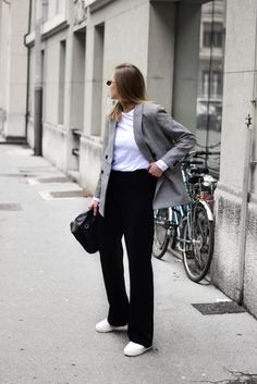 Wide leg trousers outfit; katiquette