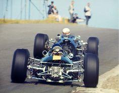 Jackie Stewart and Jim Clark, Dutch GP Zandvoort 1965. BRM P261 and Lotus 33 Climax (unattributed)...