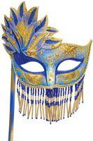 Bellisima Festa Mask (Blue/Gold)