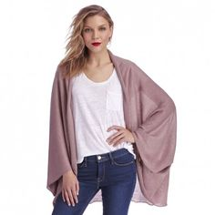 Women's Blush Viscose Cocoon Wrap Kimono by Sole Society