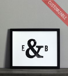 Custom Typographic Initials & Ampersand Print   Art Prints   The Oyster's Pearl   Scoutmob Shoppe   Product Detail