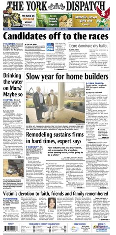York Dispatch front page for March 13, 2013
