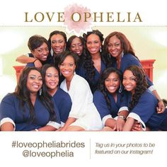 Navy Bridesmaid Robes by Love Ophelia