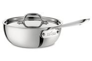 All-Clad 2 QT. Stainless Steel Saucier w/lid