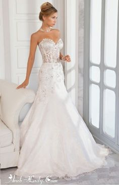 فساتين زفاف مليئة بالجمال والتميز