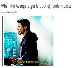 When the Avengers get left out of fandom posts...