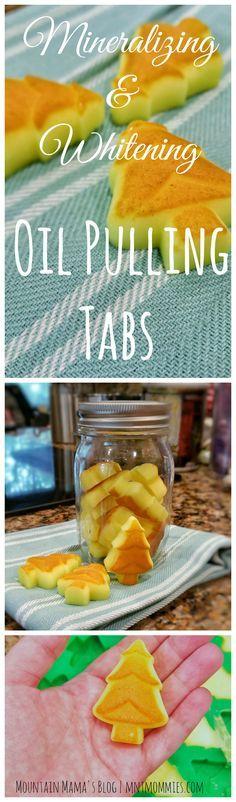 DIY Mineralizing & Whitening Oil Pulling Tabs | Mountain Mama's Blog | mntmommies.com #teeth #recipe