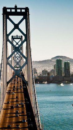 San Francisco-Oakland Bay Bridge ~ Oakland & San Francisco ~ California