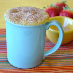Donut in a mug - delicious!