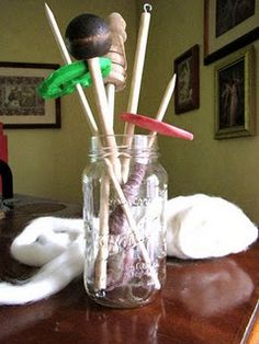 Make your own drop spindles