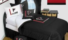 Atlanta Falcons Bedding - NFL Comforter and Sheet Set Combo by Sports Coverage. $97.99. This is a great team of NFL Atlanta Falcons Bedding Comforter and Micro Fiber Sheet set combination!. Buy the Microfiber Sheet set with the Comforter and save off our already discounted prices. Comforter is made from 100% Polyester Jersey Mesh - just like what the players wear. The fill is 100% Polyester batting for warmth and comfort. Authentic team colors and logo screen printed in the ...