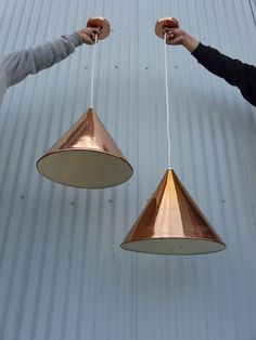 arne jacobsen copper pendants #lighting