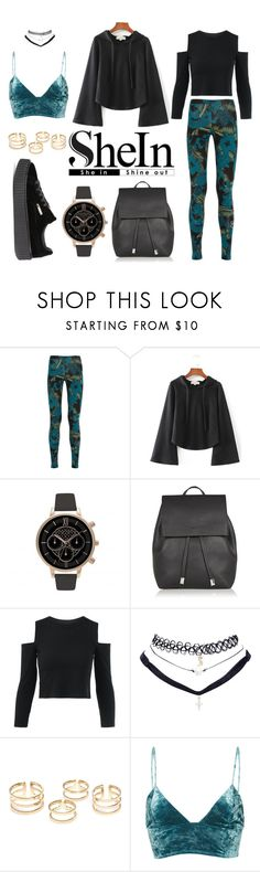 """""""sport. chic. elegance."""" by dora-upani ❤ liked on Polyvore featuring adidas Originals, WithChic, Topshop, Wet Seal, Fleur du Mal and Puma"""