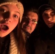 Shawn, his sister, and his dad