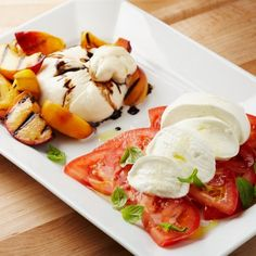 Peaches and Tomatoes with Italian Cheese