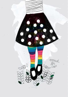 by nariasat #illustrations #artdirection #rainbowzoo #fashionillustration