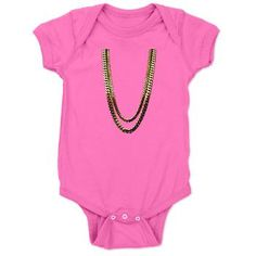 2 Chainz Gold Chains Onesie Baby Bodysuit  2 chainz, birthday song, boats, Drake, gold chains, im different, No lie, ovo, rappers, tity boi, trill, tru story, two chains, hip hop, baby, rap