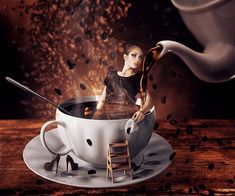 "I love coffee like… by ""Lhianne"" – Drawing Inspiration Coffee Cup Art, Coffee Girl, I Love Coffee, Coffee Cafe, Best Coffee, My Coffee, Coffee Shop, Happy Coffee, Good Morning Coffee"