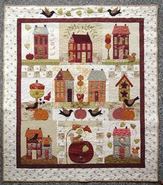 Autumn House by Robin at Crafty Musings.  Based on a BOM from Bunny Hill Designs.