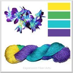Purple Orchid - Expression Fiber Art