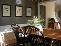 Saturday Night Dinner, We get more compliments on the paint color in this room than any other. My husband added the picture molding for me l...