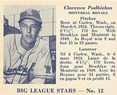 1950 Big League Stars (V362) #12 Bud Podbielan Front