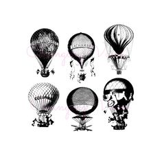 Digital Clipart Graphic Download Hot Air Balloon by ChangingVases, $2.50