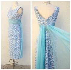 50s 60s bridesmaid dress, 50s cocktail dress, blue lace wiggle dress, white lace overlay, 24 waist, xs xxs