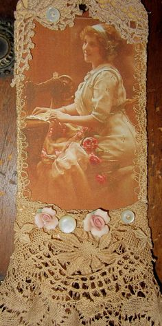 Vintage Lace Collage Edwardian Seamstress Sweet Inspirations etsy shop