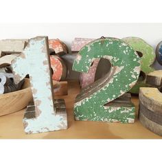 Wooden numbers by knackstudio // yeahTHATgreenville