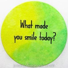 Daily Journaling Prompt for Creative Happiness - Day 304: What made you smile today? http://ift.tt/1zAxRhM #journaling #journalingprompts #dailyjournaling2016 #journals #journals #notebook #notebooks...