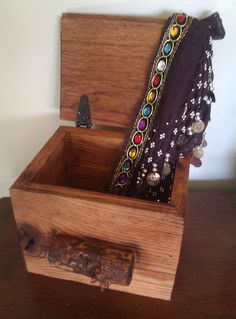 Rustic Hand Crafted Oak Box by Lauralous on Etsy, $49.00