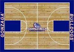 College Court NCAA Gonzaga Novelty Rug