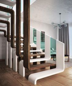 Modern Staircase Design Ideas - Modern stairs can be found in many styles and designs that can be actual eye-catcher in the various location. We have actually put together finest 10 modern models of stairs that can offer. Interior Stairs, Home Interior Design, Interior Architecture, Modern Interior, Architecture Colleges, Ikea Interior, Stairs Architecture, Architecture Awards, Gothic Architecture