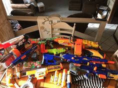 Huge Lot Nerf Guns Vulcan Nitron Pyragon Long Strike