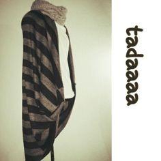 Schnelle Jacke aus einem Quadrat nähen - wirklich total einfach z.B. aus großem Halstuch